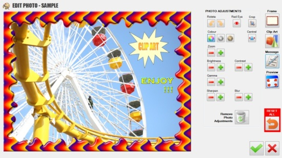 Theme Park Photo Printing Software - AFTER Edit