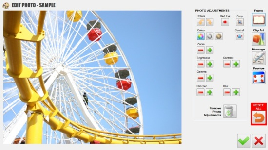 Theme Park Photo Printing Software - BEFORE Edit